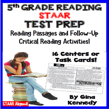 5th Grade STAAR Test Prep Reading Center Passages, Critica