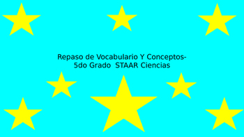 5th Grade STAAR Science Vocabulary Review (SPANISH)