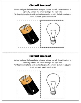 5th Grade Science: Interactive Notebook- Building a Circuit