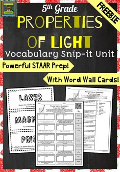 5th Grade Science STAAR-Properties of Light FREEBIE (refra
