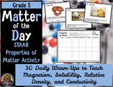 5th Grade Science STAAR--Properties of Matter Activity