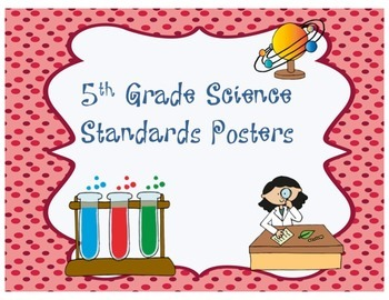 5th Grade Science Standards Posters