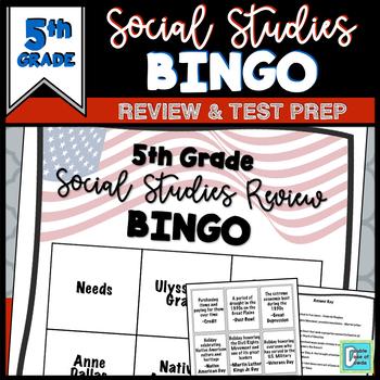 5th Grade Social Studies End of Year BINGO - Tennessee Focus