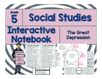 5th Grade Social Studies Interactive Notebook-The Great De