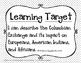 5th Grade Social Studies Learning Target Posters