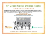 5th Grade Social Studies Performance Tasks