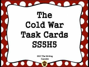 5th Grade Social Studies Task Cards :  The Cold War SS5H7