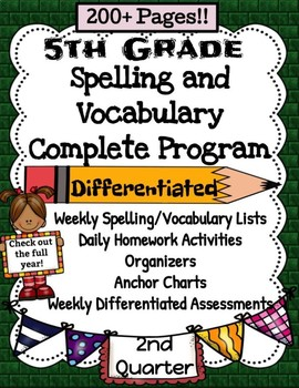 5th Grade Spelling and Vocabulary Complete Program Common