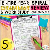 5th Grade Language Homework   5th Grade Morning Work ENTIR