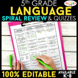 5th Grade Language Homework 5th Grade Morning Work Daily L