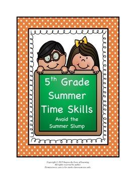 5th Grade Summer Time Skills