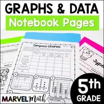 5th Grade TEKS Graphs Notebook: Scatterplot, Stem-and-leaf
