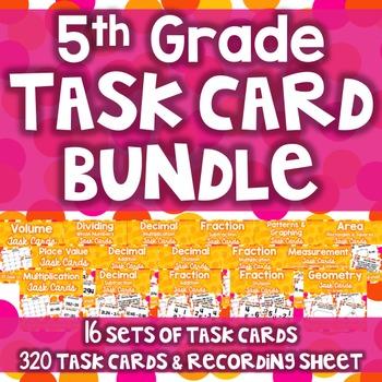5th Grade Task Card Bundle