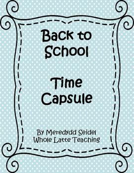 5th Grade Time Capsule