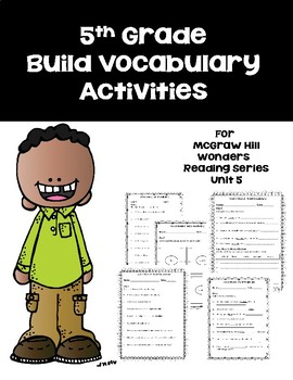 5th Grade Vocabulary Activities for Mc-Graw Hill Wonders R