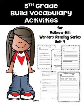5th Grade Vocabulary Activities for McGraw-Hill Wonders Re