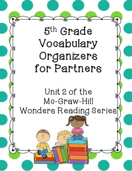 5th Grade Vocabulary Partner Organizers--Wonders Reading S