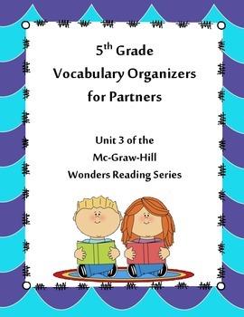 5th Grade Vocabulary Partner Organizers --Wonders Reading