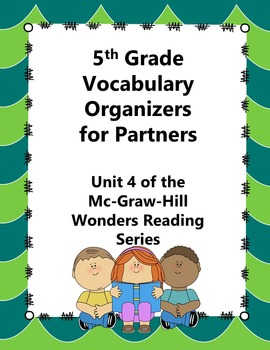 5th Grade Vocabulary Partner Organizers--Wonders Reading S