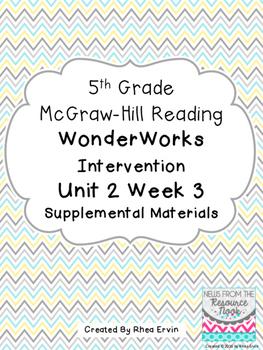5th Grade Reading WonderWorks Supplement- Unit 2 Week 3