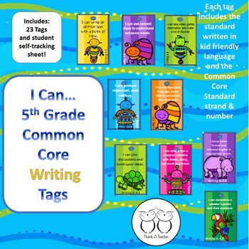 5th Grade Writing Common Core Brag Tags