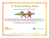 5th Grade Writing Tasks - Authentic Tasks for the Modern Student