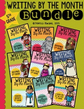 Monthly Writing Bundle-Entire Year 5th