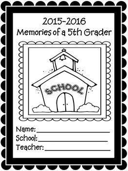 5th Grade Yearly Memories Memory Book