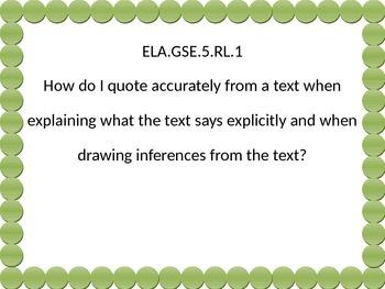 5th grade ELA Essential Questions