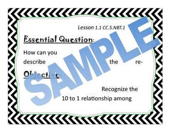 5th grade, GO Math, Essential Questions, Chapter 1
