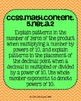 5th grade Math Common Core Standards Posters Numbers and O