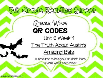5th grade Reading Street QR Codes: Unit 6 Week 1: The Trut