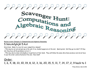 5th grade STAAR review Category 2: Scavenger Hunt