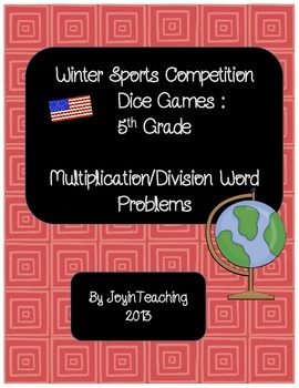 5th grade: Winter Sports Dice Games: Multiplication Divisi