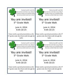 5th grade graduation invitation