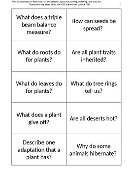 5th grade science review flashcards / task cards / exit sl