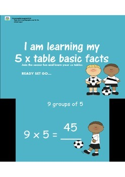 FIVE TIMES TABLES SOCCER POWERPOINT FUN