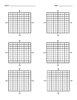 5x5 and 10x10 Coordinate Planes