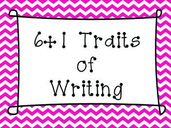 6 + 1 Traits of Writing Chevron Rainbow Posters