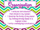 6+1 Writing Traits  Anchor Charts Signs/Posters (Purple Chevron)