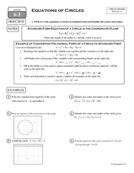 6-3 Equations of Circles