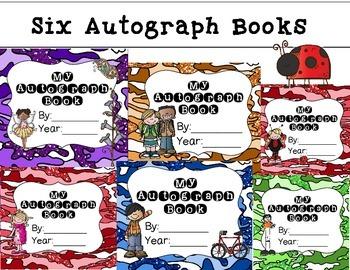 6 Autograph Books