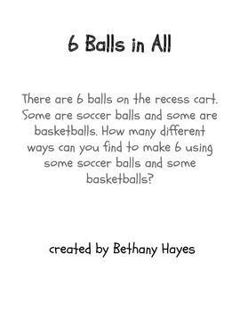 6 Balls in All Math Investigation