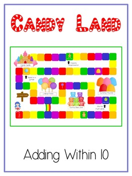 6 Candy Land Math Folder Games Adding Near Doubles Missing