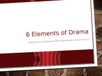 6 Elements of Drama Presentation