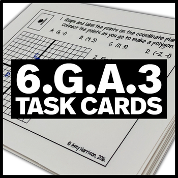 6.G.A.3 Task Cards - Graph Polygons and Find Measures of S