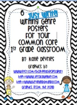 6 Just Write Writing Genre Posters for Your Common Core Classroom