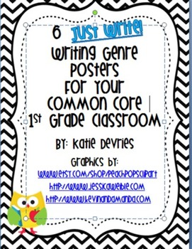 6 Just Write Writing Genre Posters for Your Common Core Cl