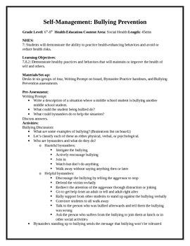 6 Middle School Health Lessons-Bundled: Self-Management &
