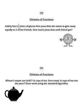 6.NS.1 - Dividing Fractions - Practice the Algorithm (easi